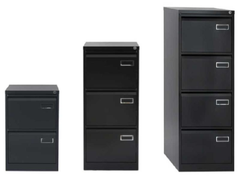 bisley classeur simple 4 tiroirs anthracite. Black Bedroom Furniture Sets. Home Design Ideas