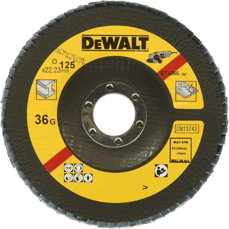 Dewalt dt3265-qz disque a lamelles type 29 grain 36 ø 125mm 22.2