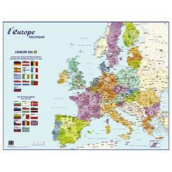 CARTE D'EUROPE MURALE PELLICULÉE