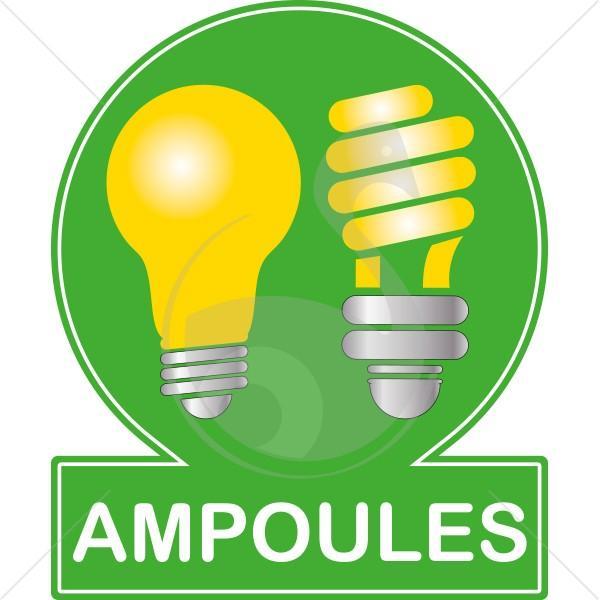 pictogramme couleur recyclage des ampoules. Black Bedroom Furniture Sets. Home Design Ideas