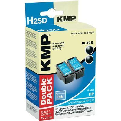 LOT DE 2 CARTOUCHES COMPATIBLE KMP H25D REMPLACE HP 339 NOIR