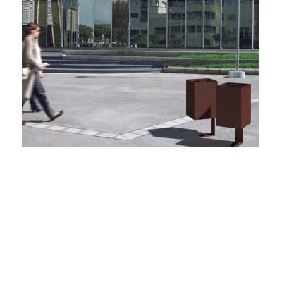 poubelle publique metal dic. Black Bedroom Furniture Sets. Home Design Ideas