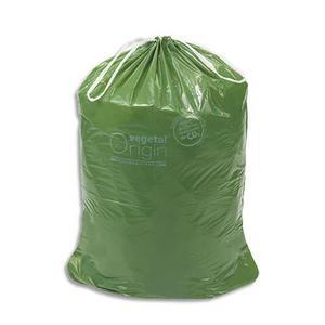 vegetal boite de 100 sacs poubelle a liens coulissants vert vegetal origin 100 litres 32 microns. Black Bedroom Furniture Sets. Home Design Ideas