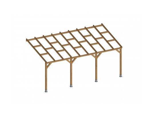 Toit Terrasse En Bois 3x5 5 M Sans Toit Polycarbonate Chalet Jardin