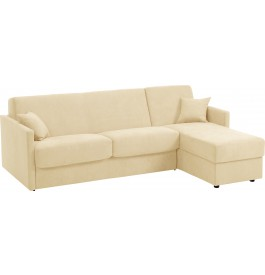 canape d 39 angle rapido convertible ciak microfibre beige. Black Bedroom Furniture Sets. Home Design Ideas