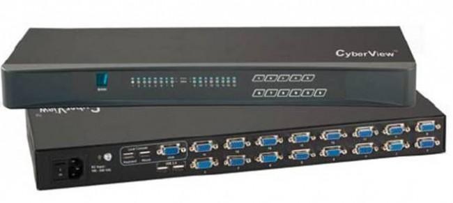 CV-801H/1601H - COMMUTATEURS KVM 8/16 PORTS - VGA / USB 2.0 -1,8/3/4,5 M