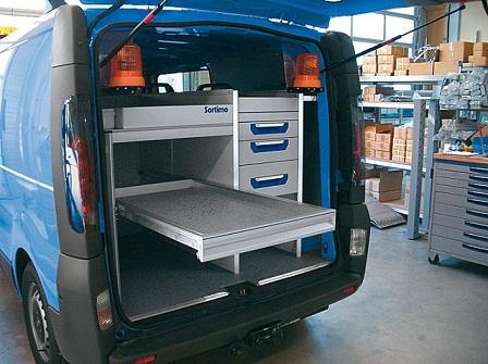 Sortimo produits service d 39 amenagement de vehicules for Amenagement interieur vehicule utilitaire
