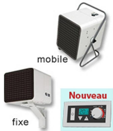 CHAUFFAGE AÉROTHERME ÉLECTRIQUE - NOIROT - AÉROTHERME MOBILE-FIXE - 18000/9000W