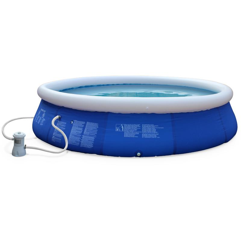 Piscine jade gonflable bleue autoportante ronde 420 x 90 for Piscine hors sol gonflable