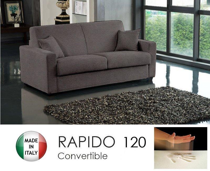 Canape convertible rapido 120cm dreamer tissu microfibre - Canape convertible rapido but ...