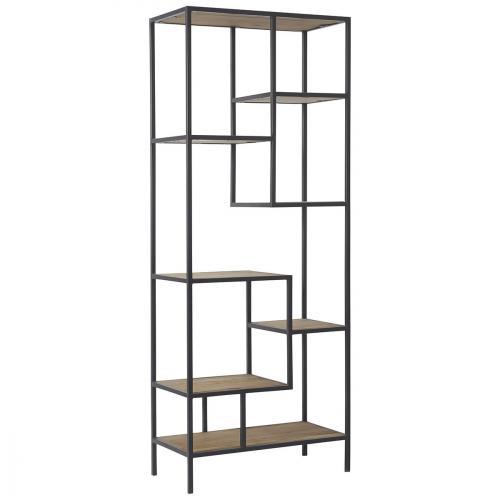 hanjel etag re biblioth que anasta m tal bois 80 x 230 cm. Black Bedroom Furniture Sets. Home Design Ideas