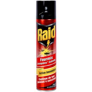 raid insecticide anti rampants cafard fourmi araignee 400 ml. Black Bedroom Furniture Sets. Home Design Ideas