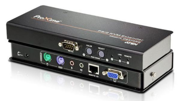 CE370 - DÉPORT KVM VGA CÂBLES CAT.5E USB / MINI-JACK / RS-232 / SÉRIE / PS-2