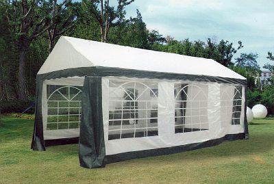chapiteau tente de reception 3 x 6 m blanc vert en pe 200g m2. Black Bedroom Furniture Sets. Home Design Ideas