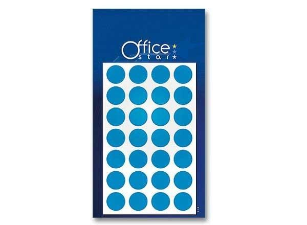 ETUI DE 180 PASTILLES RONDES - Ø 15 MM- BLEU - NEW - OFFICE STAR - PA 613