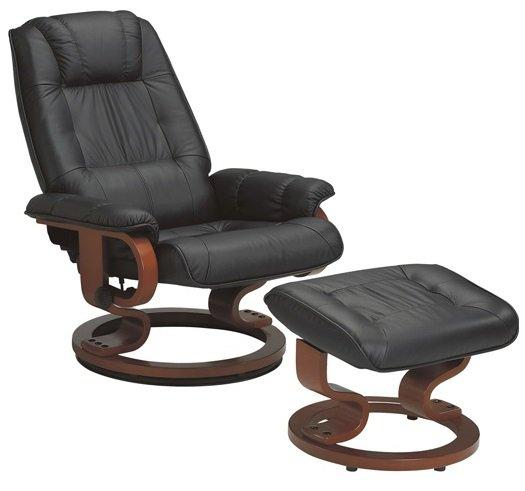 Excel fauteuil relax avec repose pieds cuir noir comparer les prix de excel fauteuil relax avec - Fauteuil relaxation pivotant avec repose pieds ...