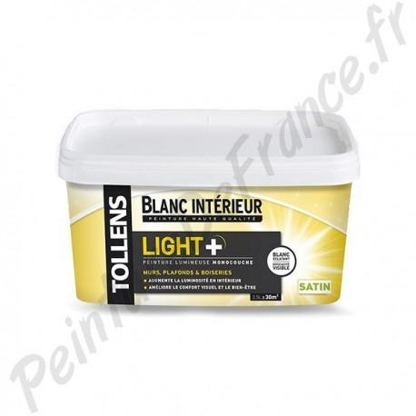 Peinture Tollens Lumineuse Light Satin Blanc 2 5l