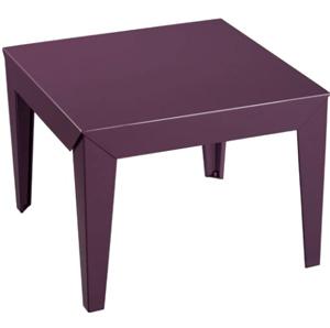 table basse carree zef gm aluminium mat. Black Bedroom Furniture Sets. Home Design Ideas