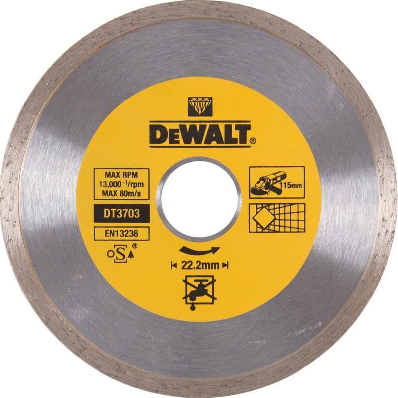Dewalt dt3703-qz disque à jante continue pour béton, brique et pierre 115x22.2mm 22.2
