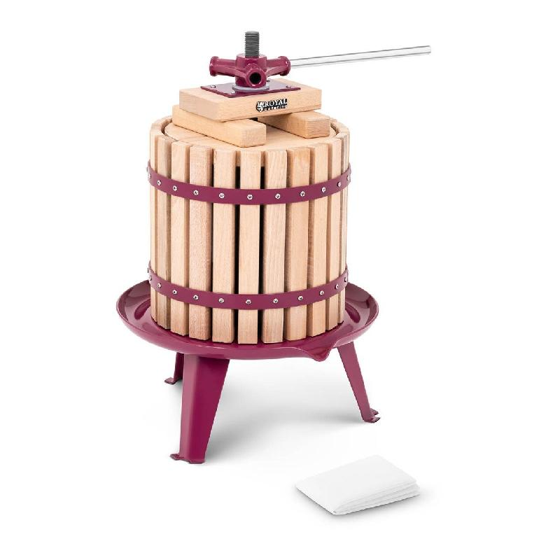 Pressoir de table hydraulique extracteur de jus mécanique à vis bois presse à fruit pomme jus vin raisin cidre 12 litres 14_0000319