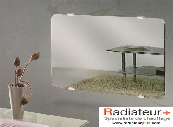 Radiateur en verre campaver 2 ultime reflet effet miroir for Miroir etroit