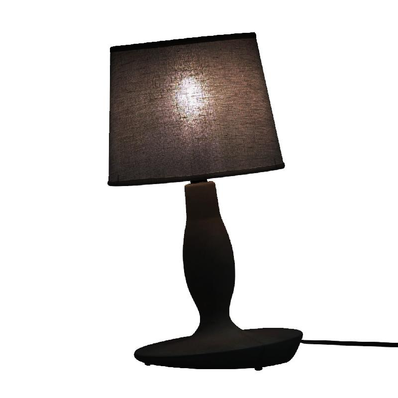 Norma m lampe poser noir 40cm lampe poser karman for Lampe a poser noire