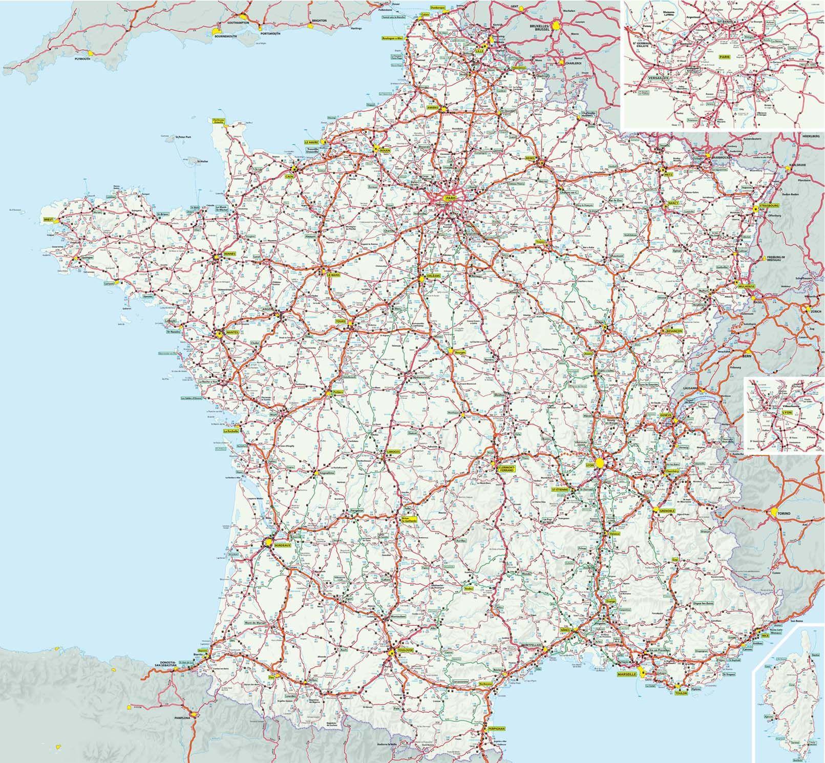Carte France Grands Itineraires Michelin Avec Ou Sans Legende