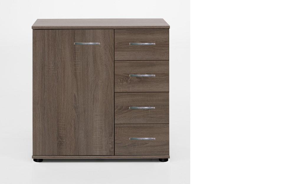 commode adulte contemporaine audrey coloris chene blanc. Black Bedroom Furniture Sets. Home Design Ideas