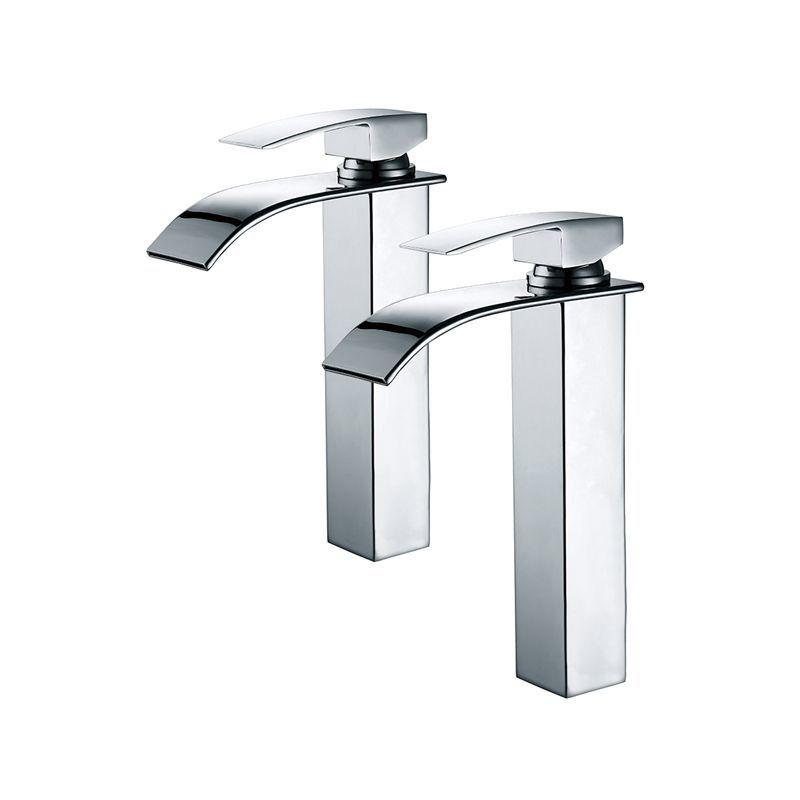 2x robinets salle de bain haut bec cascade mitigeur de. Black Bedroom Furniture Sets. Home Design Ideas
