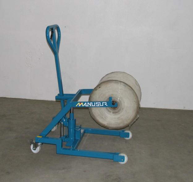 Transpalette porte bobine