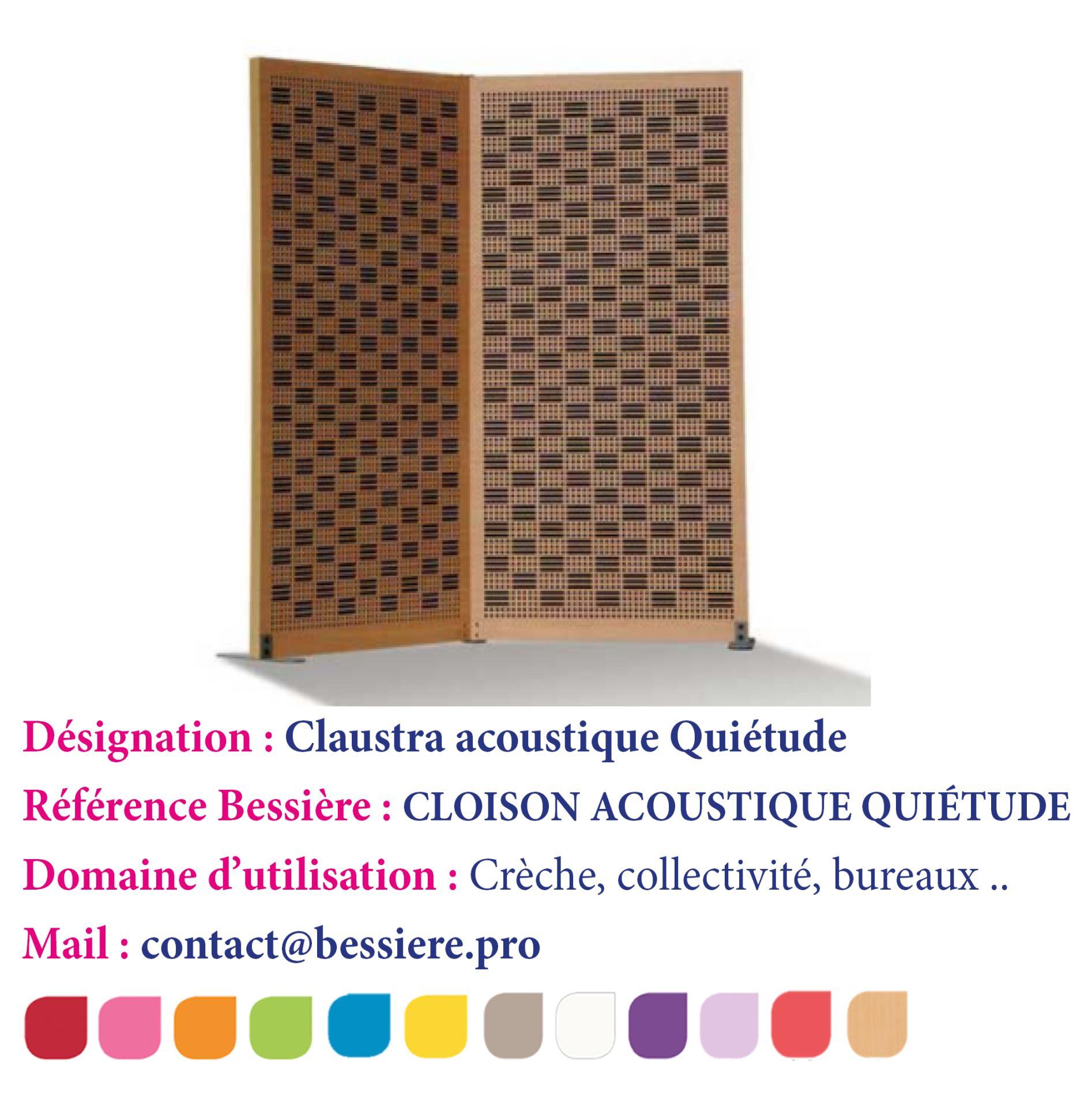 Bessiere produits de la categorie cloisons insonorisantes - Cloison coulissante acoustique ...