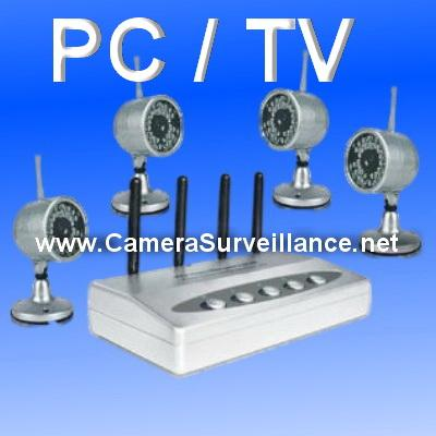 kit video surveillance sans fil 4 cameras infrarouges comparer les prix de kit video. Black Bedroom Furniture Sets. Home Design Ideas