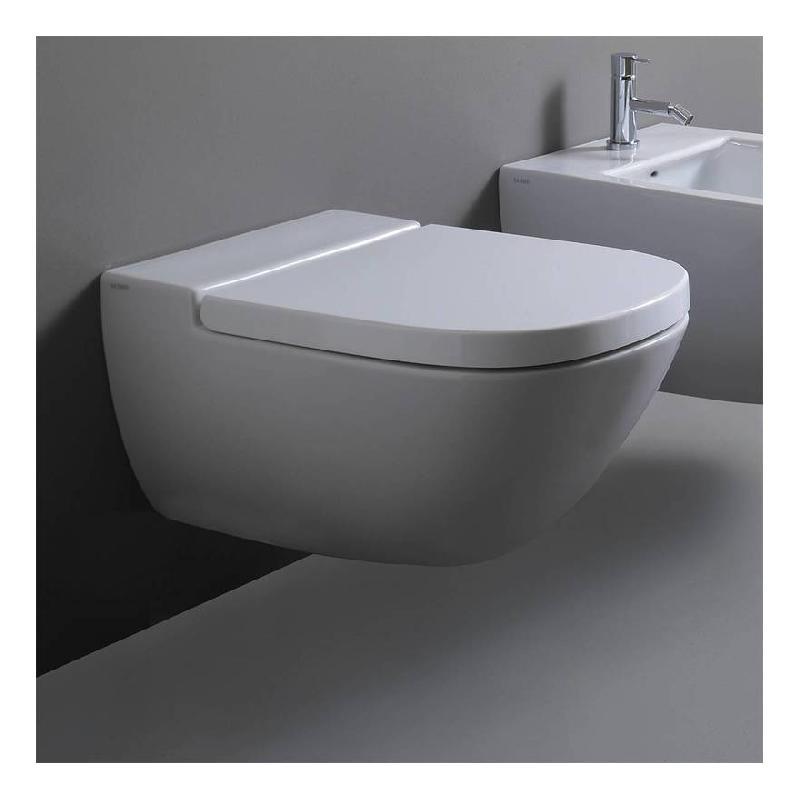 WC SUSPENDU 37X58 CM EN CÉRAMIQUE GLOBO STOCKHOLM | AVEC ABATTANT WC - BAGNO