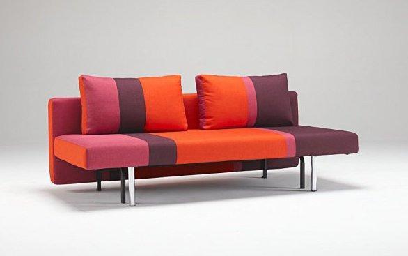 canape lit design vitta rouge innovation convertible 190 137cm. Black Bedroom Furniture Sets. Home Design Ideas