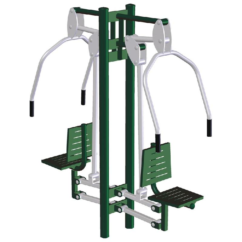 D velopp vertical double de fitness ext rieur comparer for Exterieur gym