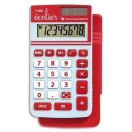 TEXAS INSTRUMENT CALCULATRICE 4 OPÉRATIONS POUR CLASSES PRIMAIRES TI 106 S