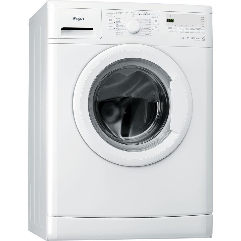 Lave-linge de maison whirlpool hublot posable : 7 kg - awod 4721