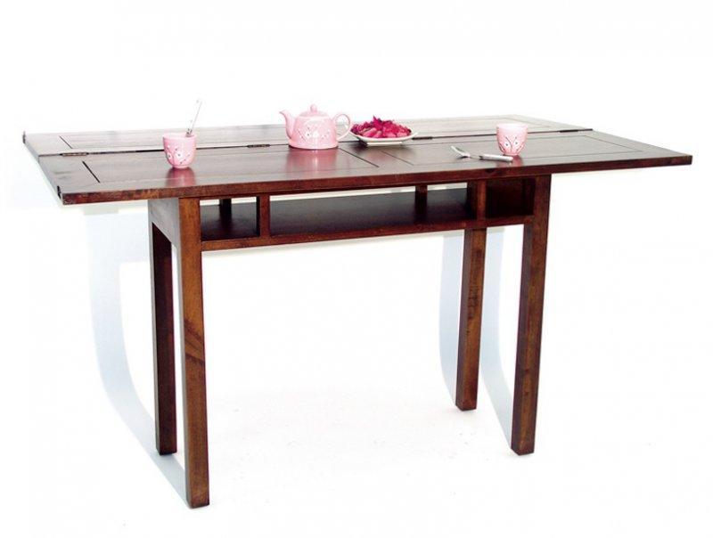 console extensible en table repas thai en hevea. Black Bedroom Furniture Sets. Home Design Ideas