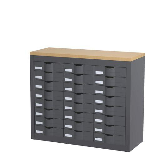 module 3 colonnes 24 tiroirs h 75 cm paperflow comparer les prix de module 3 colonnes 24. Black Bedroom Furniture Sets. Home Design Ideas