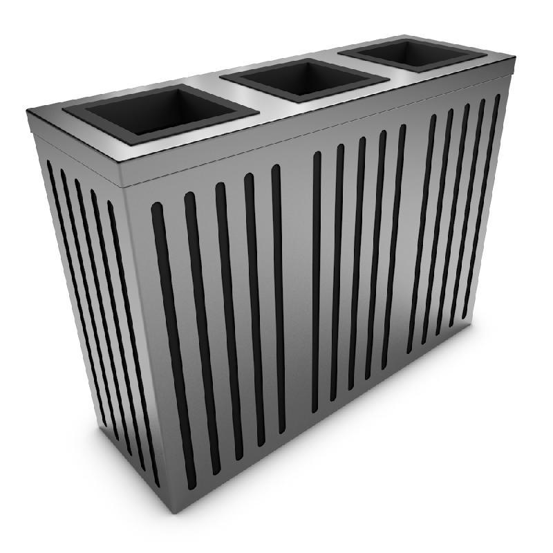 Poubelle en acier achat vente poubelle en acier au meilleur prix hellopro - Poubelle inox tri selectif ...