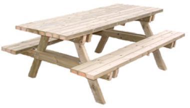 table publique de pique-nique en bois
