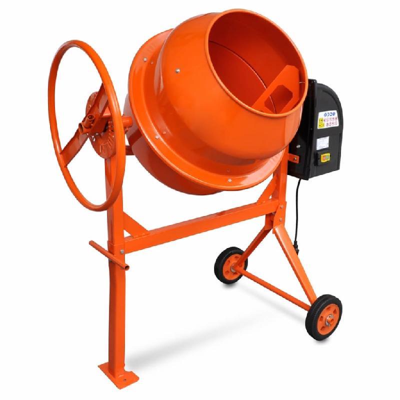 Vidaxl bétonnière 140 l 650 w acier orange