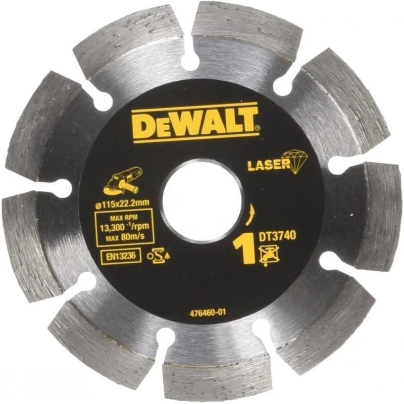 Dewalt dt3740-xj disque laser pour matériaux de construction/béton 115x22.2mm, hauteur segment 7.5mm 22.2