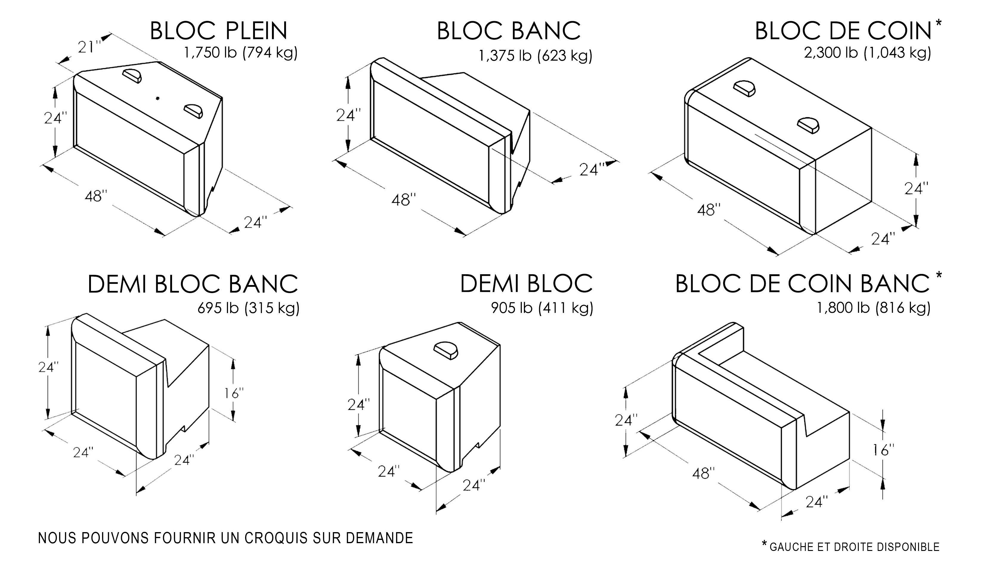 Bloc beton decoratif