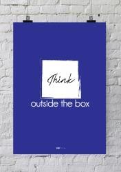 AFFICHE POUR BUREAU THINK OUTSIDE THE BOX