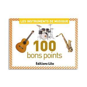 BOÎTE DE 100 BON POINTS THÈMES INSTRULMENTS DE MUSIQUE