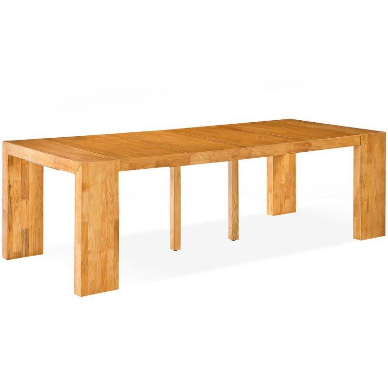 Console extensible sublimo chene clair 12 couverts bois - Table console extensible 12 couverts ...