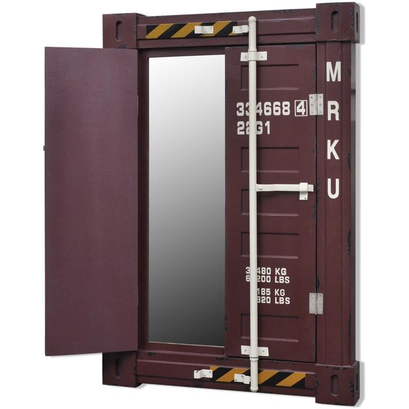 Miroir mural avec cadre en bois unique vidaxl for Cube miroir habitat