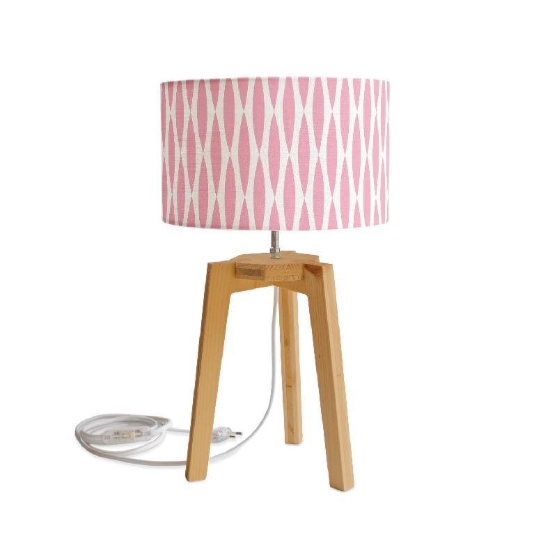 Lampes de table mademoiselle dimanche achat vente de for Lampe a poser rose