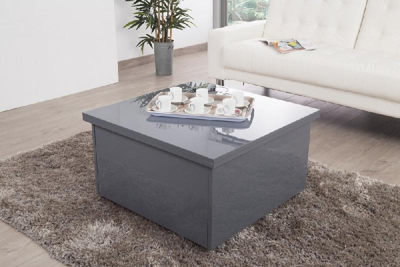 Table basse relevable extensible giani grise comparer les prix de table basse relevable - Table basse relevable grise ...